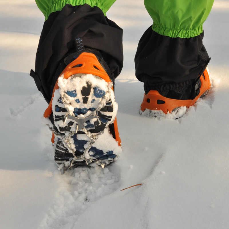 BSAID 8 Răng Ice Gripper, chống Trượt Ngoài Trời Tuyết 8 Móng Tay Spikes Grips Leo Núi Trượt Tuyết Đinh Móc Mùa Đông Giày Gắp Móng Vuốt Chuỗi