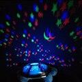 Eléctrico Tortugas Night Lights para empezar Música Luces Niños Mini Proyector 4 Colores 4 Canciones Estrella de La Lámpara Envío Gratis