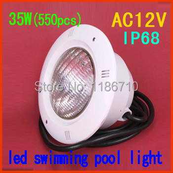Factory direct sale Single Color 35W embedded led swimming pool light 35W*(558pcs) underwater led pool light