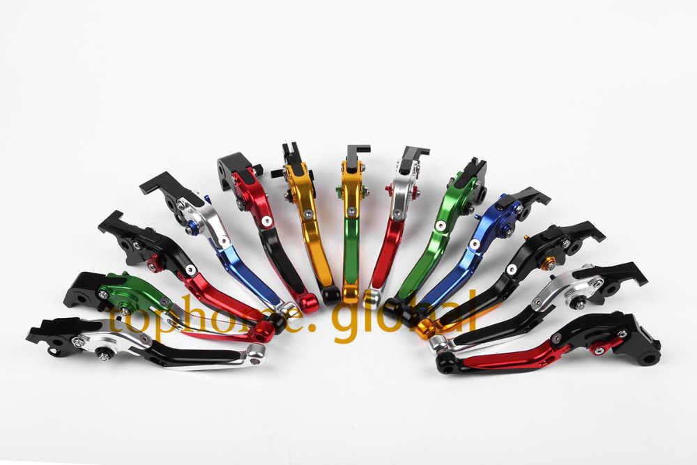 อุปกรณ์รถจักรยานยนต์cncพับและขยายคันคลัตช์เบรกสีดำสำหรับฮอนด้าcbr1000rr/fireblade2008-20142009