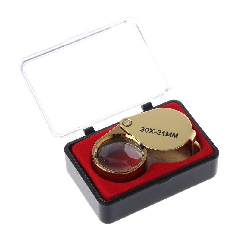 Portable Jewelers Eye Loupe Magnifier Magnifying Glass Jewelry Diamond 30x21mm