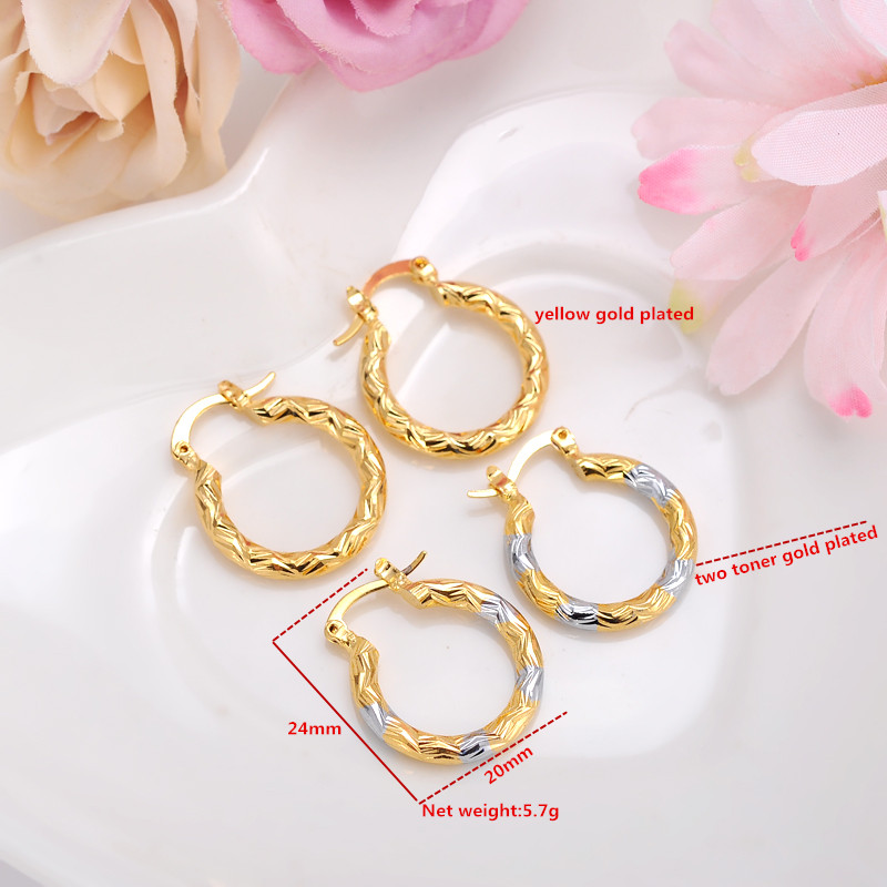 2pairs Earrings Girls Dubai Gold Turkish Egyptian Algeria Indian ...