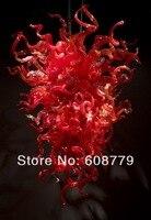 무료 배송 휴일 디자인 k9 계단 레드 크리스탈 샹들리에
