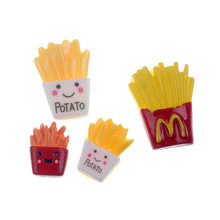 20Pcs Mixed Cute Fake Resin French Fries Decoration Crafts Flatback Cabochon Embellishments For Scrapbooking Accessories