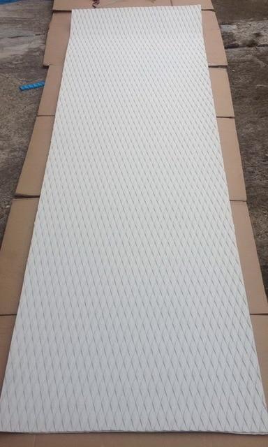 Kostenloser Versand Weiß Farbe Diamant Muster EVA 3 mt kleber skidproof top pad sup deck pad grip pad