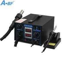 2-in-1 Rework Station dual digital display A-BF SS330D soldering Iron Station lead-free desoldering Hot air gun mobile repair