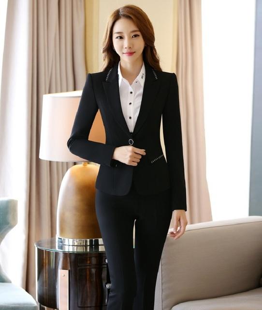 Plus Size 4XL Profissional Desgaste Do Trabalho de Escritório Ternos Com Coletes E Calças Formais Calças de Design Uniforme Feminino Pantsuits Define