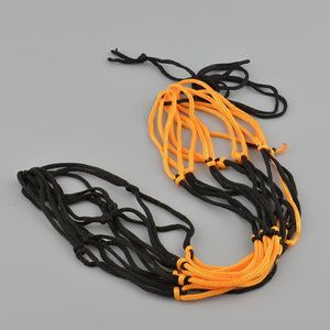 Nylon Net Bag Ball Mesh Volleyball Basketball Football Game Black&Yellow Useful Ball Storage Net Bag(China)
