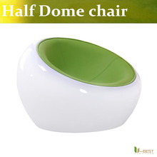 U BEST Modern Furniture Half Dome Chair Creative Futuristic Office Lounge Furniture Available in white shell