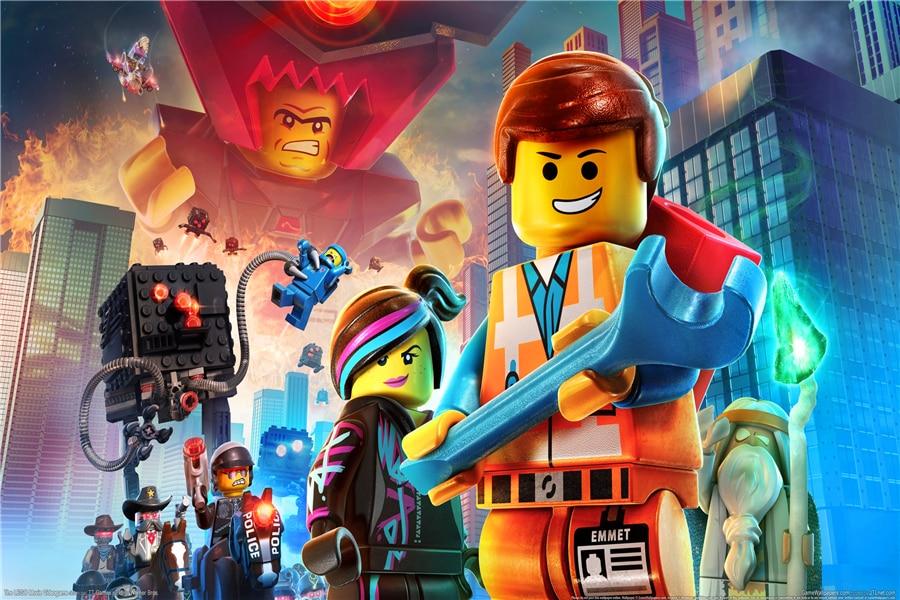 Пользовательские холст Книги по искусству Лига Справедливости Стикеры Lego обои DC Comics плакат Lego Movie Наклейки на стену Бэтмен росписи украшени...