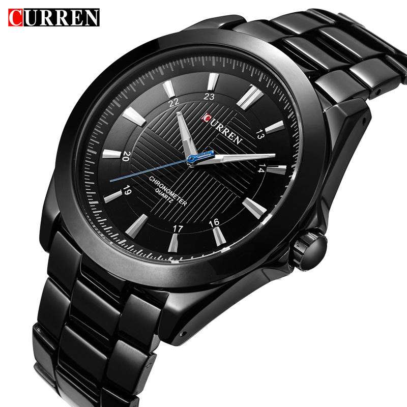 Relogio CURREN Mens Watches Top Brand Luxury Male Business Clocks Sport Military Clock Steel Strap Casual Quartz Men Watch 8109 new fashion men business quartz watches top brand luxury curren mens wrist watch full steel man square watch male clocks relogio