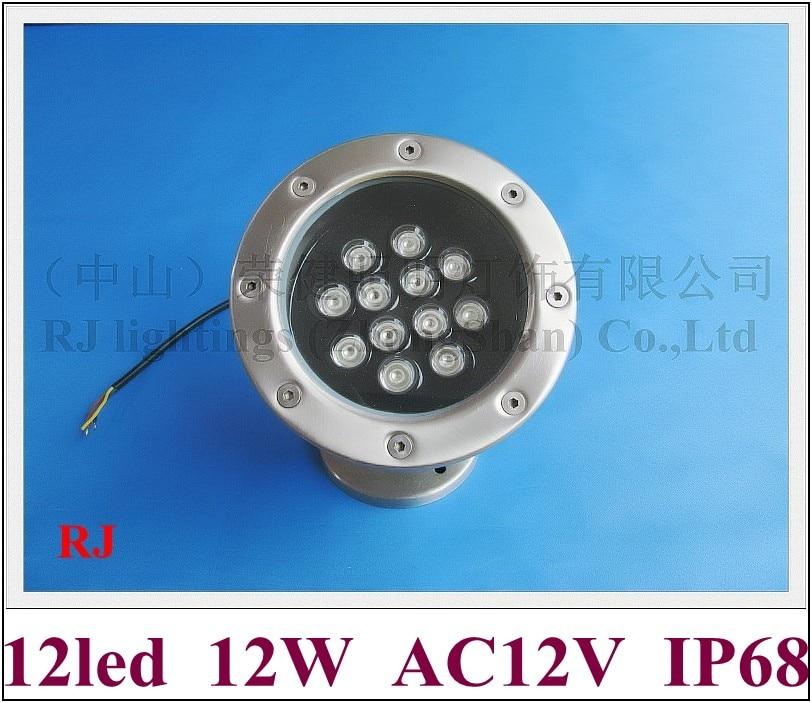 ̀ •́ Alta Potencia 12 W LED lámpara ligera subacuática llevó la ...