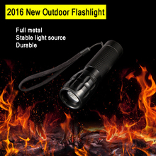 Aluminum Mini Flashlight ZOOM 7W CREE 1000LM Waterproof Lanterna LED 3 Modes Zoomable Torch AAA*3 battery Flashlight led