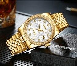 37.5mm Sangdo zegarki luksusowe automatyczne self wiatr ruch wysokiej jakości biznesu zegarek Auto data zegarek męski sd48 s8 w Zegarki mechaniczne od Zegarki na