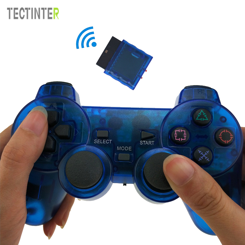 Wireless Gamepad For Sony PS2 Controller for Playstation 2 Console Joystick Double Vibration Shock Joypad Wireless Controle controller dance pad wheel gun extension cable cord for sony ps1 ps2 slim line playstation 1 playstation 2 console