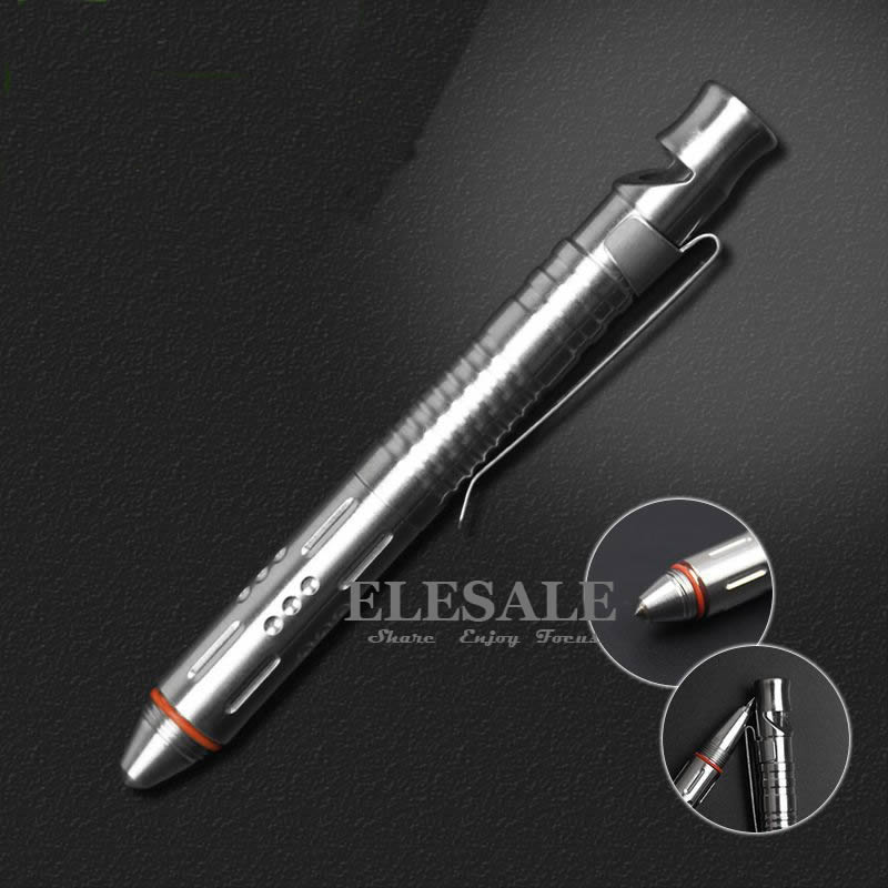 New Mini Portable Tactical Pen With Whistle Stainless Steel For Self Defense Glass Breaker Emergency Tool Kit Gift Box