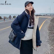PinkyIsBlack Fashion Women Winter Jacket Coat Long Parka Thicken Warm Hooded Down Cotton Padded Jacket Windproof Pockets Outwear стоимость