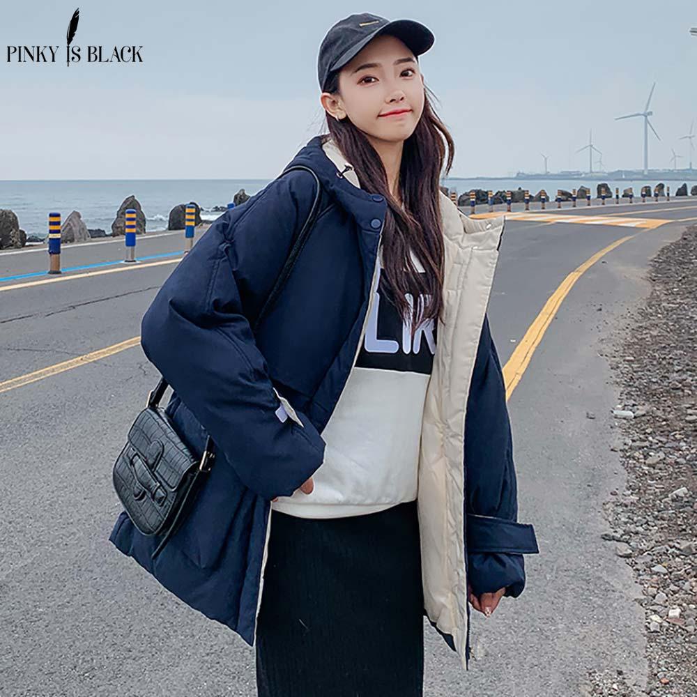 PinkyIsBlack Fashion Women Winter Jacket Coat Long   Parka   Thicken Warm Hooded Down Cotton Padded Jacket Windproof Pockets Outwear
