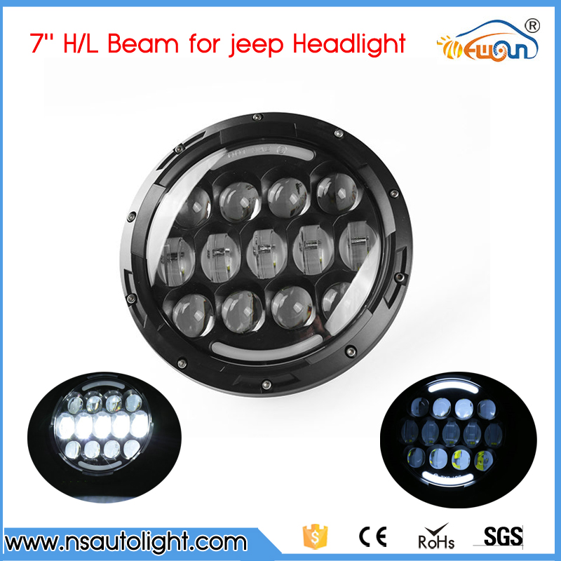 1 Pair 7 Inch 78W CREE CHIPs H4 Hi Lo LED Headlight Lamp Angel Eye DRL Bulb For Jeep Wrangler Offroad 1 pair 7 inch 78w cree chips h4 hi lo led headlight lamp angel eye drl bulb for jeep wrangler offroad