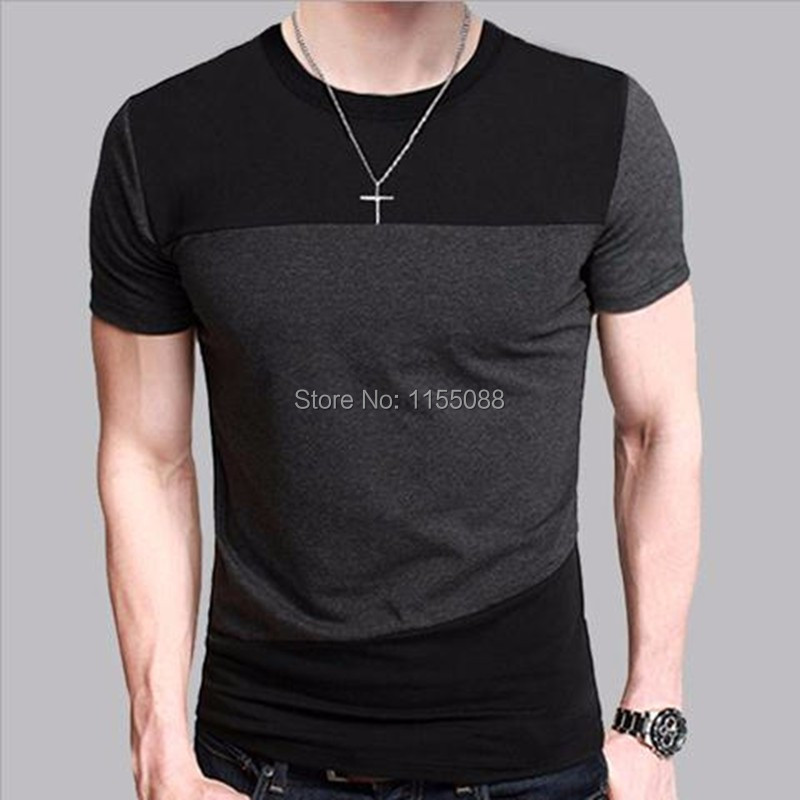 Pcs De Du Tee Court Taille T shirt Slim Courte Tops Cou lot 5xl Casual Chemise Fit Manches 10 Ras Hommes À M SxqpdSz