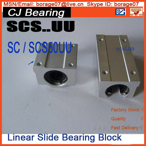 scs50uu 1piece Standard SC50UU sc50 uu 50mm Linear axis BLOCK Linear ball bearing цена