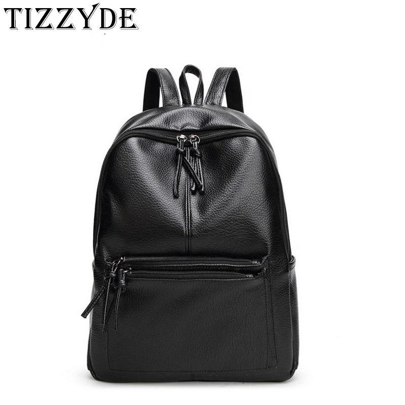Einfache Schwarz Rucksack Für Männer Und Frauen 2019 Äußere Tasche Zipper Pu Schulter Designer Hohe Qualität Schule Taschen Lql157 Gepäck & Taschen