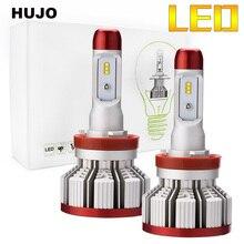 HUJO Car LED Headlight Bulb Use ZES chips 64W 12000LM 6500K car styling Auto Led H4 H7 H11 Hi-Lo Beam Automative Lighting Lamp