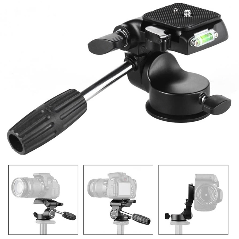 PULUZ Professional DLSR Camera Tripod Ball Head Quick Release Aluminum Damping Three-Dimensional Tripod Action Fluid Drag Head