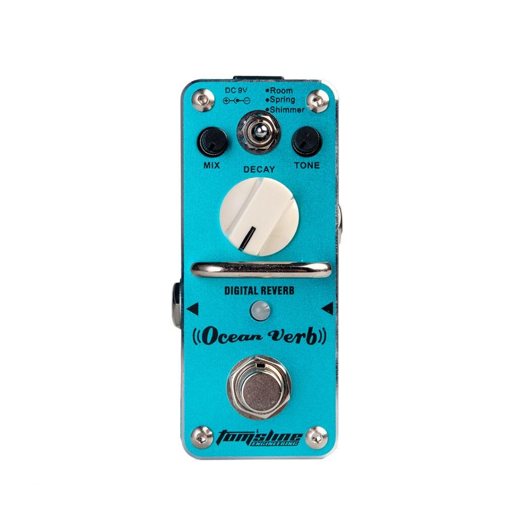 AROMA AOV 3 Guitar Pedal Ocean Verb Digital Reverb Electric Guitar Effect Pedal Mini Single Effect