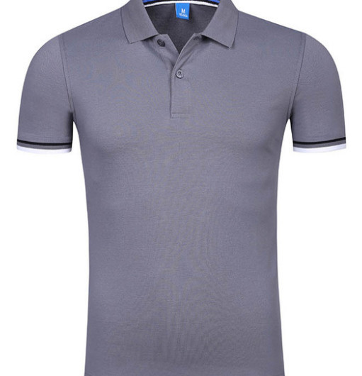 2019 Men's short-sleeved lapel embroidery pure cotton   POLO   YE136