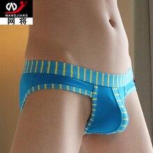 Cotton Breathable Sexy Men Underwear Briefs Gay Penis Pouch Mens stripe Brief Underwear Man Sleepwear calzoncillos masculina