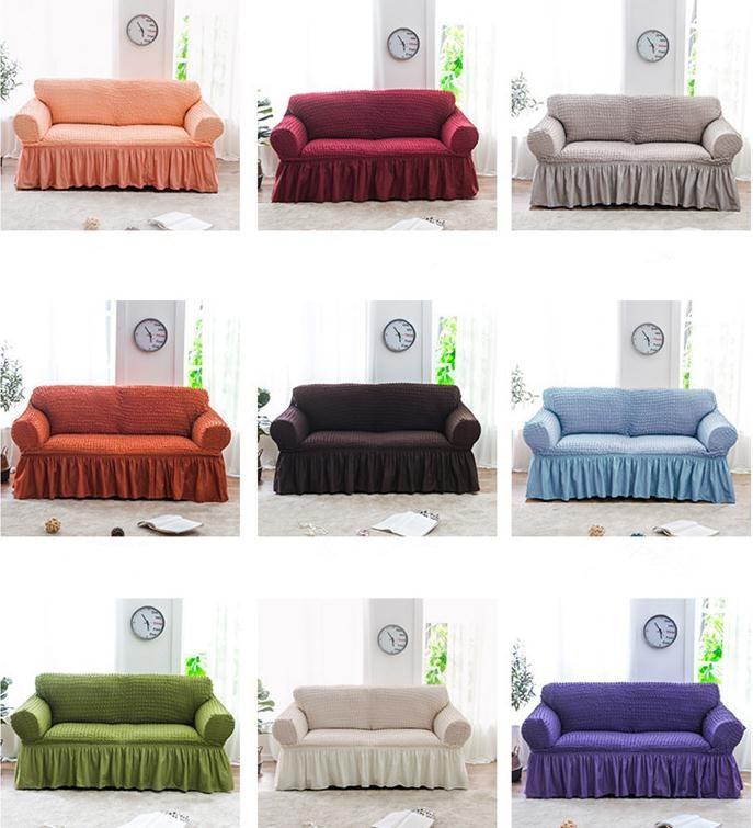 Living Room Simple Modern Sofa Cover Universal Sleeve Elastic Skirt Set European Style Sofa Cover Full
