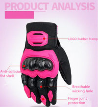 PRO-BIKER Motorcycle Full Finger Gloves Offroad ATV Racing Motocross Dirt Bike Riding Ski Scooter Protective Moto Glove MCS-21(China)