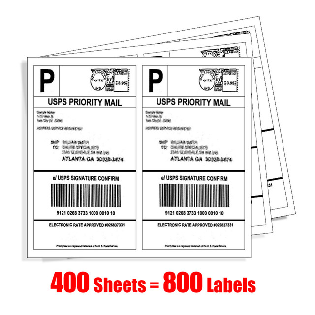half sheet laser inkjet copier mailing labels 400 sheet 800 labels