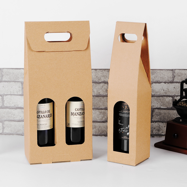 Wine Christmas Packaging.Us 52 9 30pcs Kraft Paper Red Wine Box Wine Packing Boxes Valentine S Day Christmas Birthday Party Gifts Packing Storage Boxes In Gift Bags