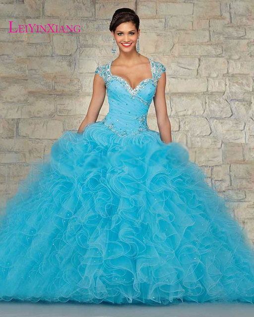 2017 Royal Quinceanera Dresses Gorgeous Sweet 16 Dresses Sexy Sequin Sleeveless Sweetheart Beading Ball Gown Zipper Custom Made