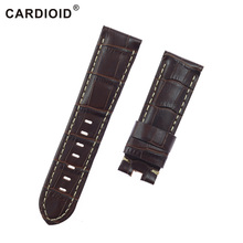 24mm Cow Leather Men Watchband For PANERAI Band With Clasp Thick Handwork Watch Strap RADIOMIR Clock Sport Bracelet