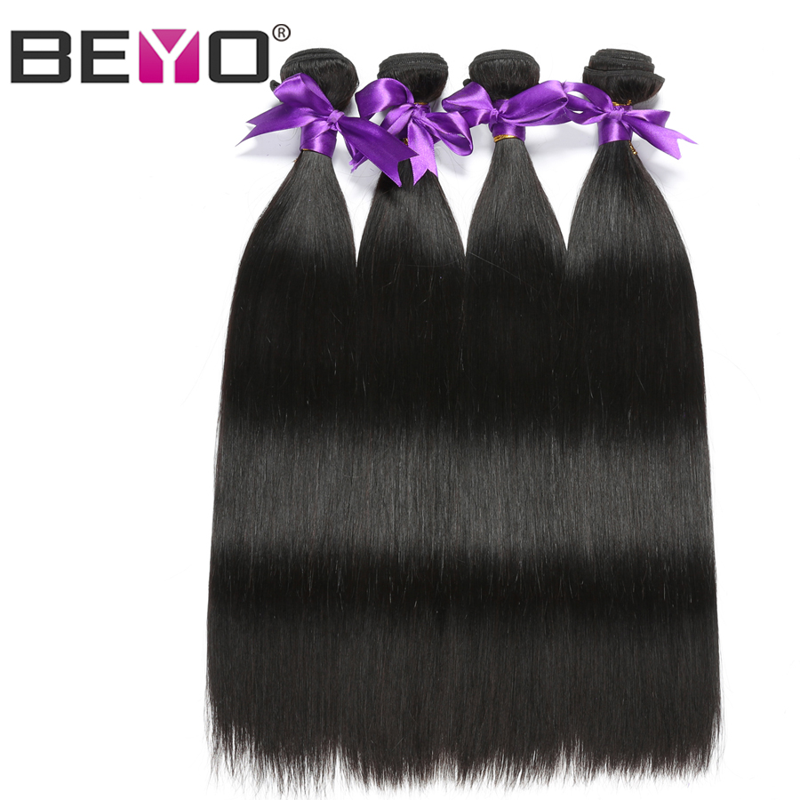 Beyo Hair Peruvian Straight Hair Bundles Natural Color Human Hair Bundles 10-28 Inch Non Remy Hair Weave 4 Bundles Free Shipping