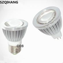 Dimmable LED Spotlight GU10 85-265V 3W 5W 7W 10W COB LED Lamp E27 220V 110V Spot Candle MR16 12V LED Bulbs Light zweihnde rgbxl12 gu10 3w 150lm rgb light led spotlight w remote controller silver 85 265v