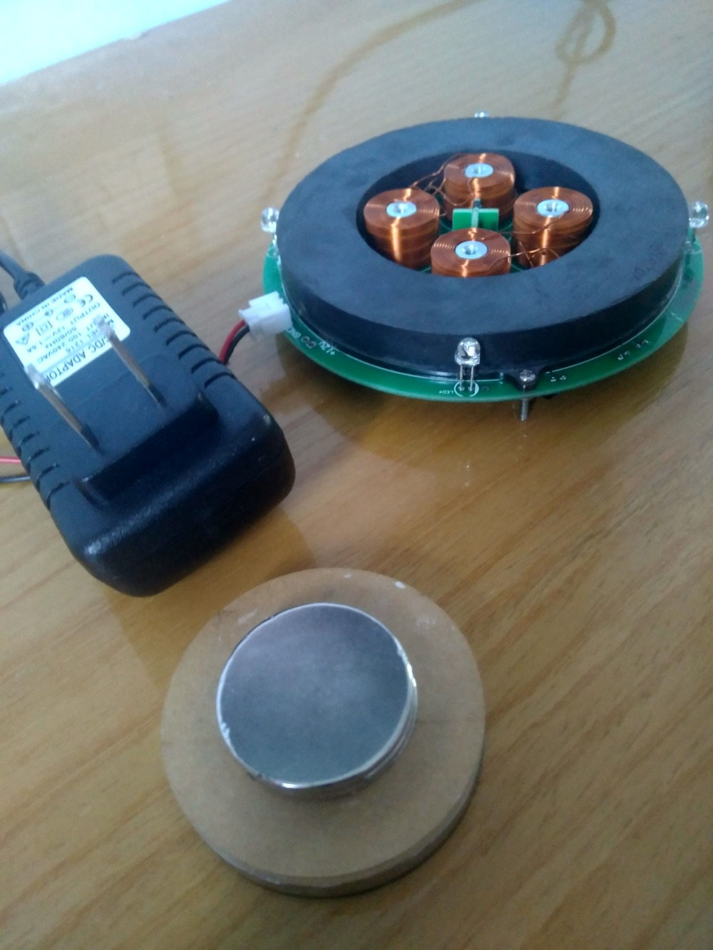 Bare magnetic levitation system bearing 550 g maglev DIY gregory s nusinovich introduction to the physics of gyrotrons