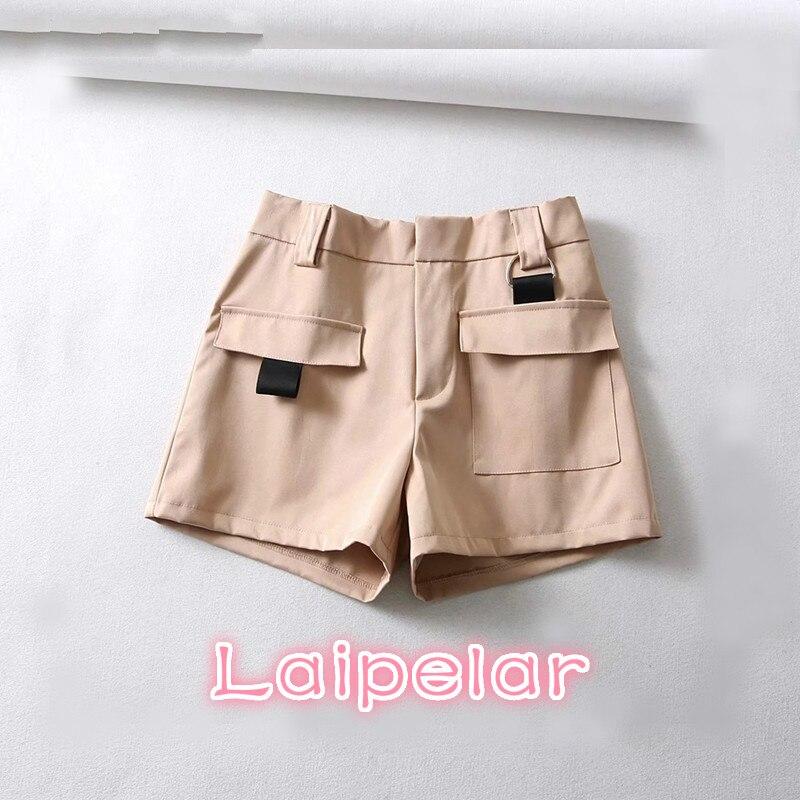 Summer hot shorts Loose Casual Cotton Shorts 2018 Feminino Elastic Women High Waist Shorts Sexy Khaki shorts fashion streetwear
