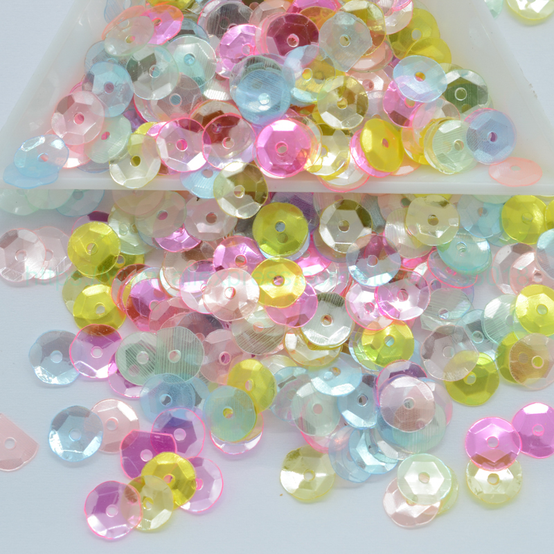 Sequins 50g Round Sequin Pvc Plastic Sequins For Crafts Paillette Sewing Scrapbooking For Dress Home Party Wedding Decor Sequins 6mm