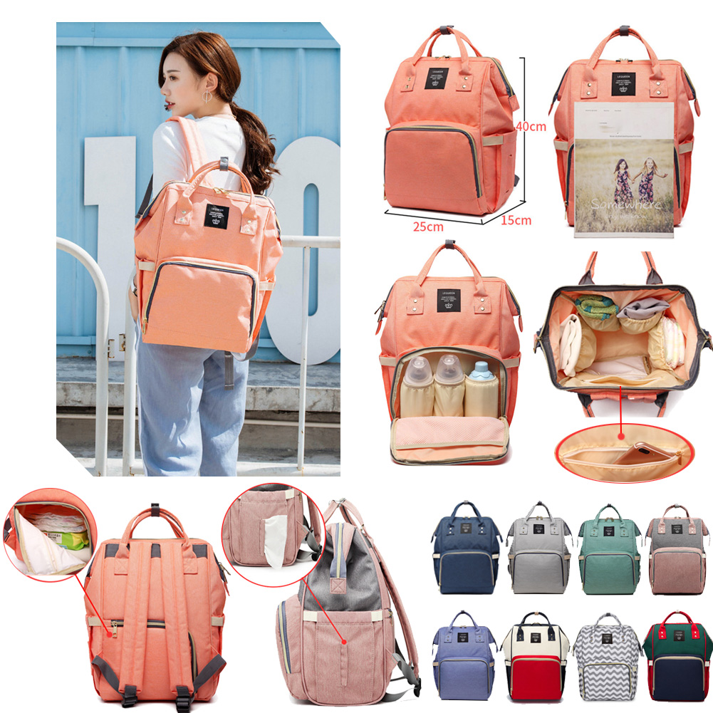 Lequeen Mummy Maternity Nappy Bag Stroller Bolsa Large Outdoor Travel Backpacks Mommy Nursing Bag Baby Care Changing Diaper Bags