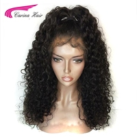 Carina Hair 150% Density Color 1B Malaysian Remy Human Hair Full Lace Wigs with Baby Hair Glueless Short Wigs Pre Plucked