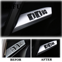 Car Styling For Toyota RAV4 2014 2017 ABS Matte Auto Interior Door Armrest Panel Window Lift Button Cover Trim Accessories