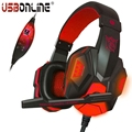 PLEXTONE Gaming Headphone Headset Over Ear Game Headband Earphone With Mic Voice Control LED Light For Computer PC PS4 Gamer