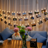 5M 20 LED Clip String Lights Fashion Photos Battery LED Decoration Fairy Light Christmas New Year