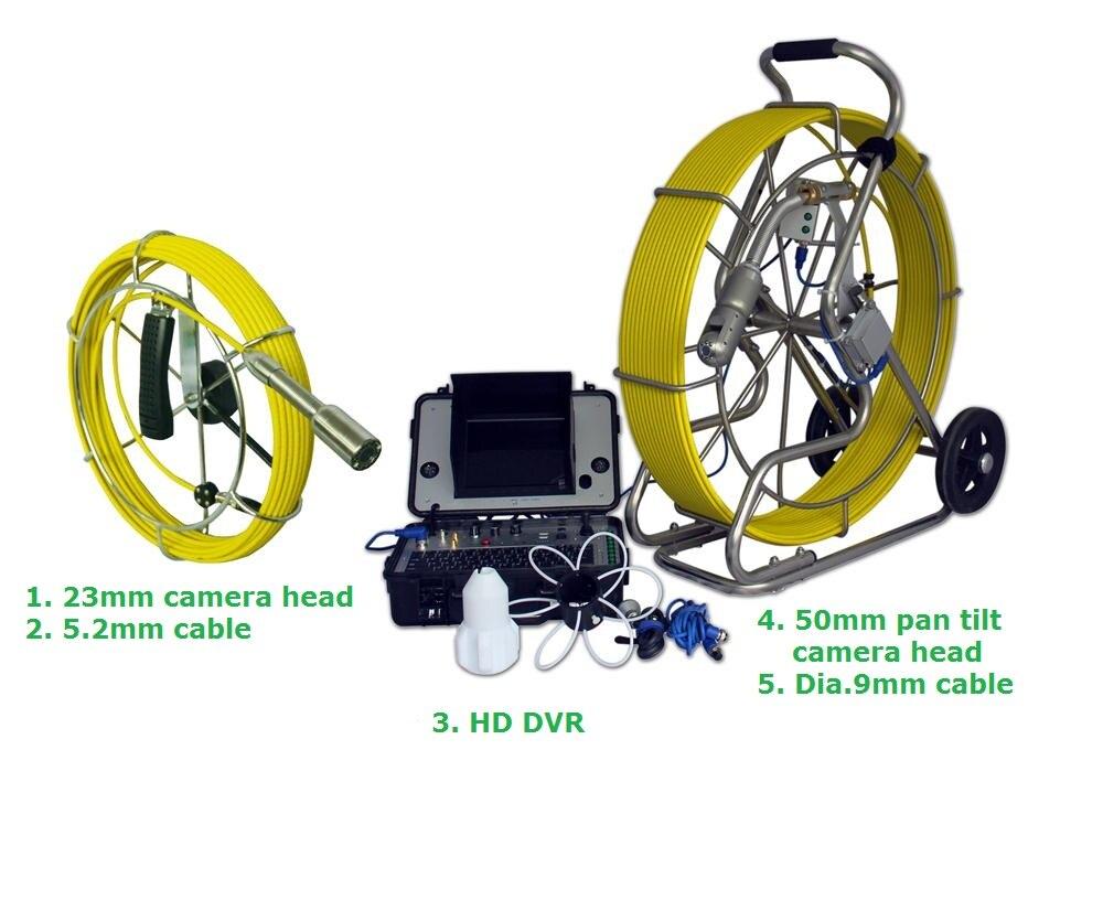 Vicam 50ミリメートルパンチルト100メートルのグラスファイバーケーブル下水パイプラインビデオ検査カメラで23ミリメートルカメラヘッドと20メートルケーブル  グループ上の セキュリティ & プロテクション からの 監視カメラ の中 1