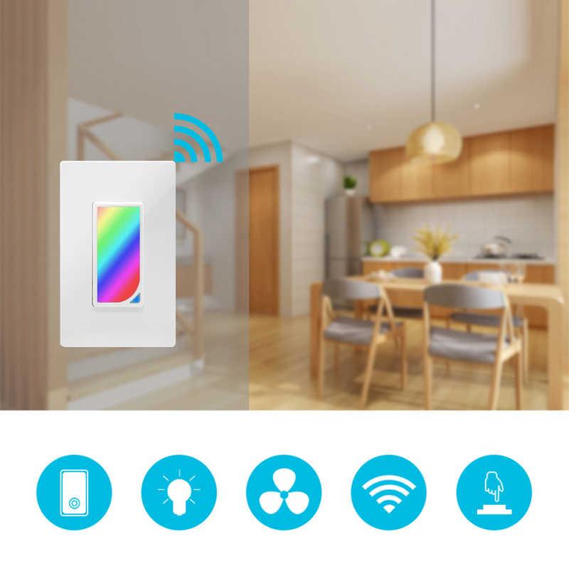 Wifi ścianie LED RGB światła sceny Inteligentna żarówka przełącznik 1200 kolory 2 W RGB światła sceny zmiana koloru praca z alexa google asystent