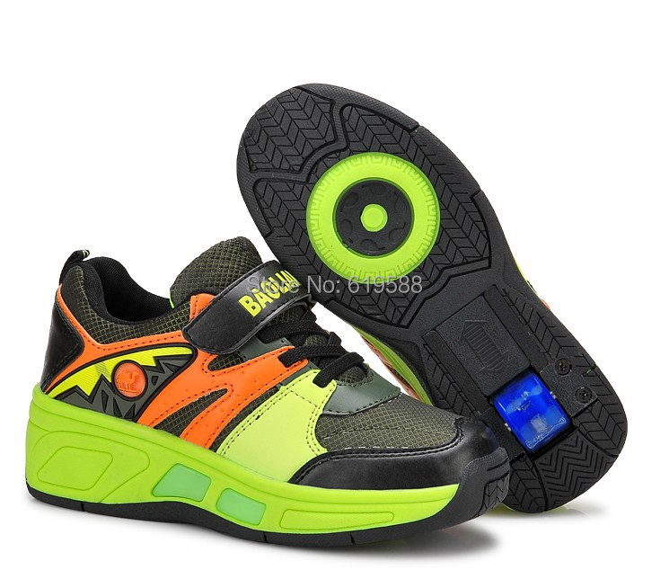 2015 New Lighted Shoe Children Wheel Shoes Fashion Kids Sneakers Female Male Child Roller Skates Flying - Louise's Commodity Supermarket store